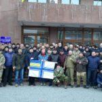 Над 14-ми обласними містами України піднято прапор ВМС України на підтримку полонених українських військових моряків!